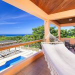Private balcony on your luxury vacation rentals in Roatan, Honduras